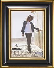 إطار صور خشبي عصري باللونين الأسود والذهبي من شركة مالدن إنترناشيونال ديزاينز، 12.7 سم × 17.78 سم،