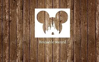 Reusable Disney Mickey Head Castle Stencil