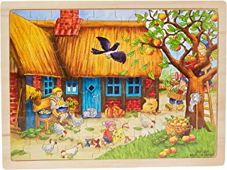 60 pieces Jigsaw Puzzles for Girls Boys Toddlers Teens Adults Kids Wood Jigsaw Puzzle Apple Tree Animal Farm Ocean World
