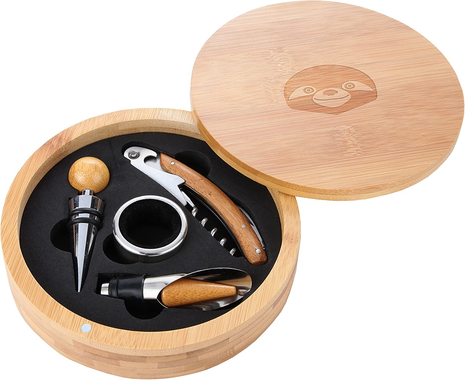 Sloth Face Wooden Accessories Company Wine Tool - W Spring Recommendation new work Portable Set