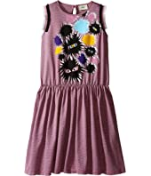 Fendi Kids - Striped Dress with Monster Graphic (Big Kids)