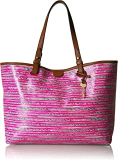 Fossil Rachel Leather 34.29 cms Pink Gym Tote (ZB7259678)