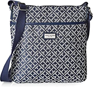 Tommy Hilfiger Crossbody Bag for Women - Canvas, Navy Blue