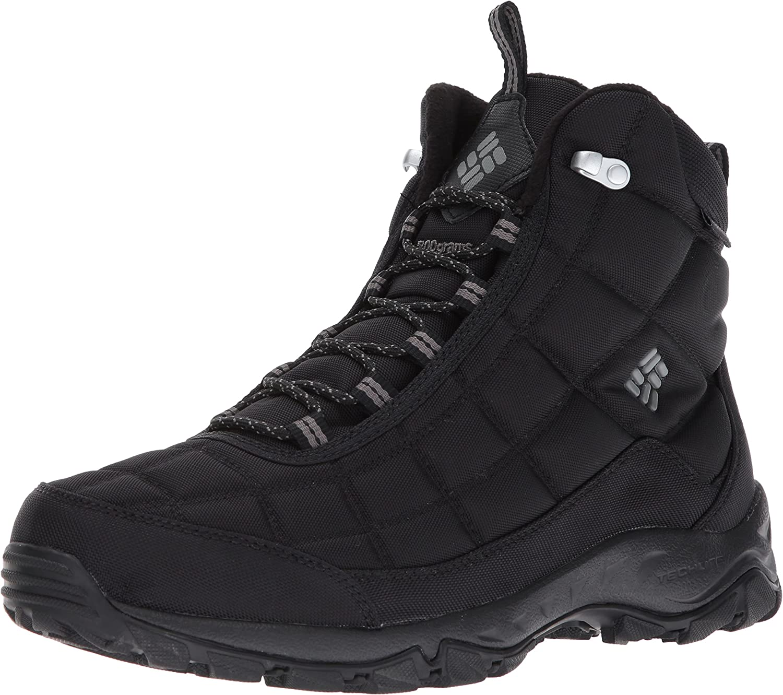 Columbia Men's Firecamp Boot Hiking Shoe, Black, Black, Black, City Grey, 13 D US B01MY0326M  18d520