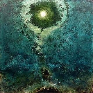 """Impresión artística sobre lienzo hd Pintura Pintura moderna Arte abstracto, 80X80 cm. Luca Bonfanti,""""Génesis azul-verde""""""""."""