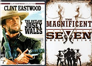 Western Guns Movie Pack DVD 5 Pack: The Magnificent Seven Collection Return / Ride (4 DVD Set) & Outlaw Josey Wales Clint Eastwood Feature Film DVD Bundle