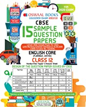 Oswaal CBSE Sample Question Paper Class 12 English Core Book (For March 2020 Exam)