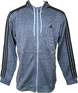 adidas Men's Tech Full Zip Fleece Hoodie Performance Hooded Track Jacket