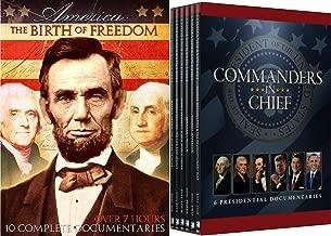AMERICA: The Birth of Freedom History Documentary + Commanders-In Chief - 6 Presidential Documentaries Washington / Obama / Reagan / Kennedy / Jefferson / Lincoln - Revolutionary & Civil War