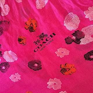 Coach Modal Multi-color Pink Ruby Floral Shawl /Wrap/Scarf F85809