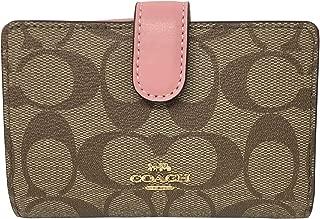 Coach Medium Corner Signature Leather Zip Wallet - #F23553