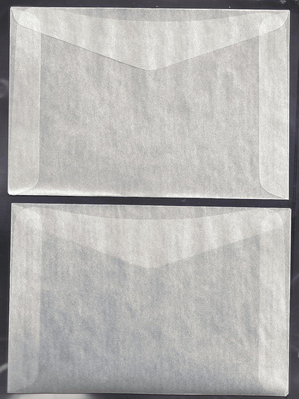 100#8 Glassine Envelopes measuring 6 5 x 4 8