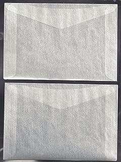 100#8 Glassine Envelopes measuring 6 5/8