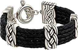 Interlok Multi Row Leather Bracelet