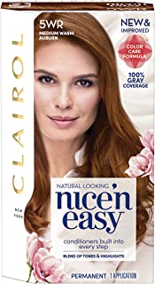 Clairol Nice'n Easy Permanent Hair Color, 5WR Medium Warm Auburn, 1 Count
