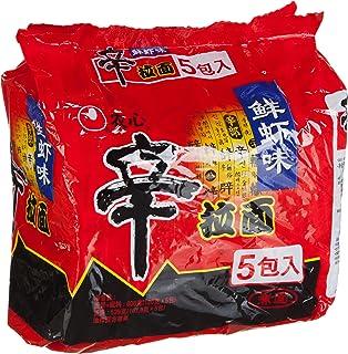 Nongshim Shrimp Shin Ramyun Noodles, 5 Count, 120 grams