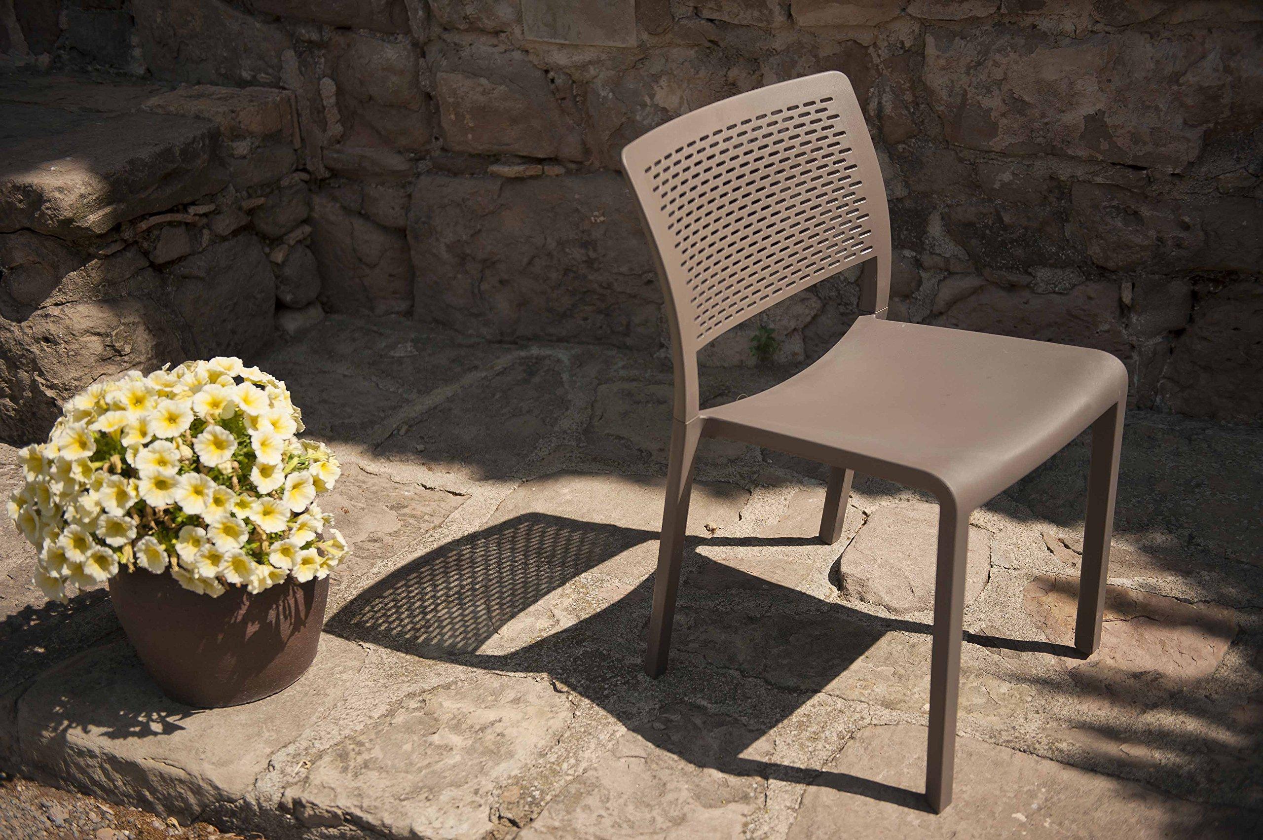 resol grupo Trama Set de 2 sillas de diseño para interior, exterior, jardín, Blanco, 54 x 48 x 80 cm: Amazon.es: Jardín