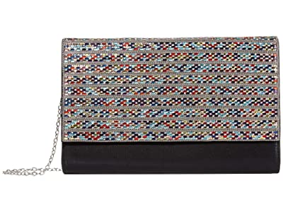 Jessica McClintock Nora Large Flap (Multi/Silver) Clutch Handbags