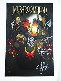 2016 Mushroomhead Band Signed Autographed Concert Poster