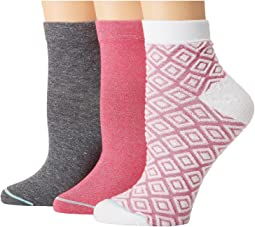 HUE - Diamond Quarter Top Sock 3-Pair Pack