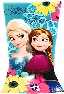 Reine des Neiges Toalla de playa, toalla de playa microfibra–70x 140cm–Disney Frozen