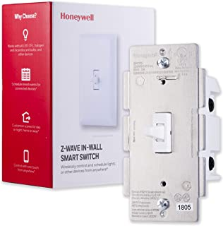Honeywell Z-Wave Plus On/Off Smart Light Switch, In-Wall Toggle