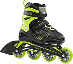 Bladerunner by Rollerblade Phoenix Boys Adjustable Fitness Inline Skate, Black and Green, Junior, Value Performance Inline...
