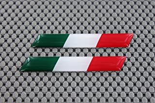 "Italia Flag Ducati Aprilia Decal Sticker Pair 3"" X 0.5"""