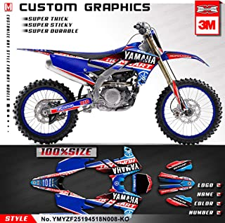 Kungfu Graphics Custom Decal Kit for 2018 2019 Yamaha YZF450 YZ450F,Blue Red,YMYZF25194518N008-KO