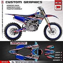 Kungfu Graphics Custom Decal Kit for 2018 2019 Yamaha YZF450 YZ450F,Blue Red,YMYZF25194518N008-KO