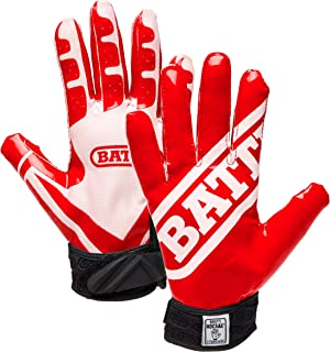 Battle Ultra-Stick Football Gloves – Ultra-Tack Sticky Palm Receivers Gloves – Pro-Style Receiver Gloves, Adult