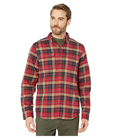 Fjallraven Sarek Heavy Flannel Shirt (Deep Red) Men