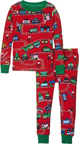 Hatley Kids - Holiday Train PJ Set (Toddler/Little Kids/Big Kids)