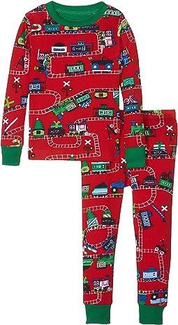 Hatley Kids - Holiday Train PJ Set (Toddler/Little Kids/Big Kids)