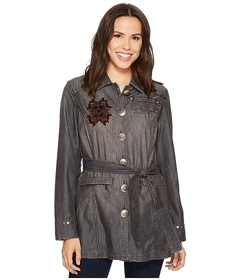 estrellas Double se chaqueta D Ranchwear negro donde las hacen nqBqIHTx
