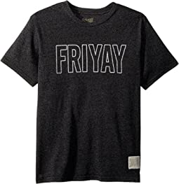The Original Retro Brand Kids - Friyay Mock Twist Short Sleeve Tee (Big Kids)