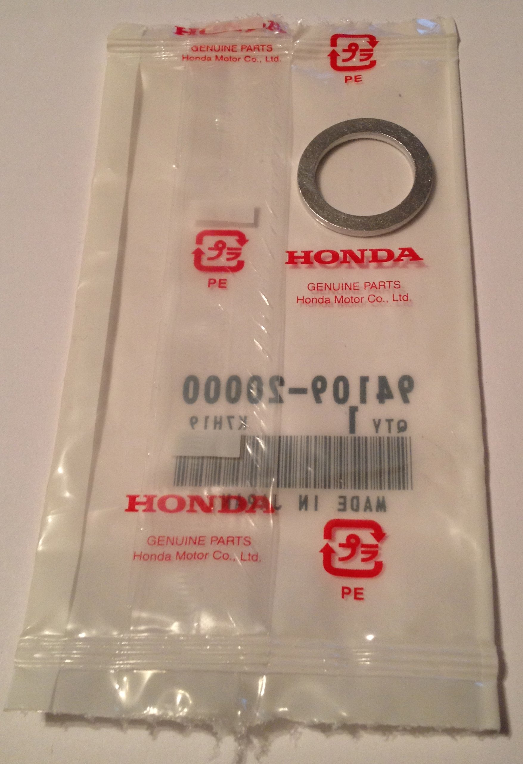 Honda Genuine OEM Rear Differential Drain / Fill Plug Washer - 94109-20000 - 20mm