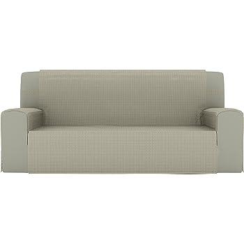 Eiffel Textile Lyon Cubre sofá 3 plazas, Algodón, Beige, 150 x 195 x 2 cm: Amazon.es: Hogar