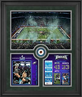 "Philadelphia Eagles Framed 23"" x 27"" Super Bowl LII Champions Team Collage with a Piece of Game-Used Football - Limited Edition of 2017"