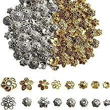 50pcs Antique Brass End Bead Caps DIY Jewelry Findings Flower 13x13x6mm YB