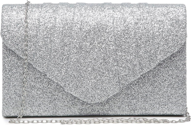 Dasein Women's Evening Cheap super Super beauty product restock quality top! special price Bag Pleated Envelope Clutch Handbag Weddi
