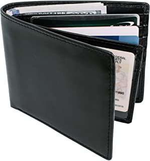 Bifold Wallets For Men RFID Blocking with ID Window | Mens Leather Wallet | Genuine Leather | Extra Capacity Mens Wallet