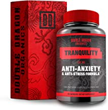 Anti Anxiety Supplement and Stress Support for Anxiety Relief with Ashwagandha, L-Theanine, Turmeric Extract, and GABA :: Reduce Stress Without Feeling Tired :: Double Dragon Organics :: 90 Caps