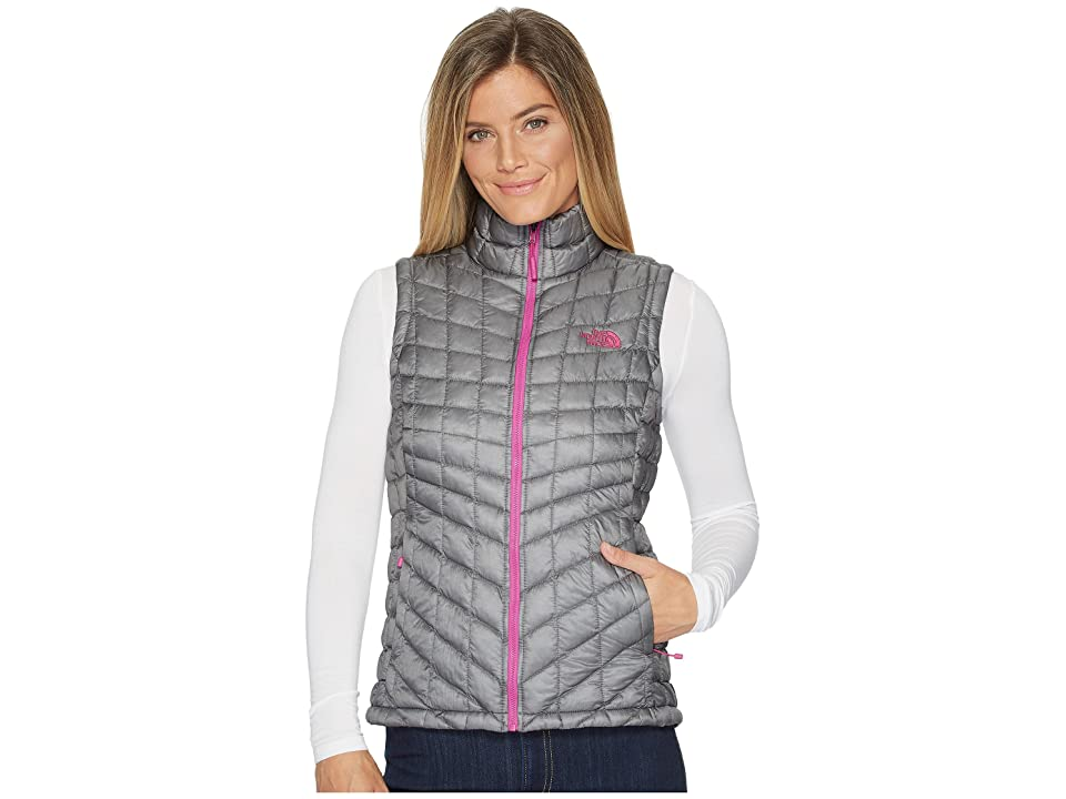 The North Face Thermoball Vest (Mid Grey/Violet Pink) Women