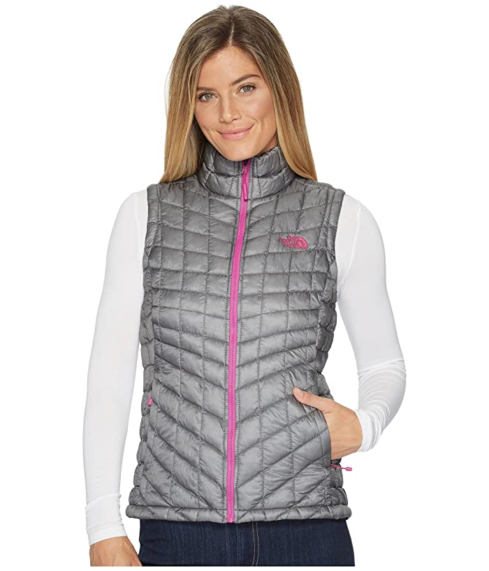 The North Face  Thermoball Vest (Mid Grey/Violet Pink) Womens Vest