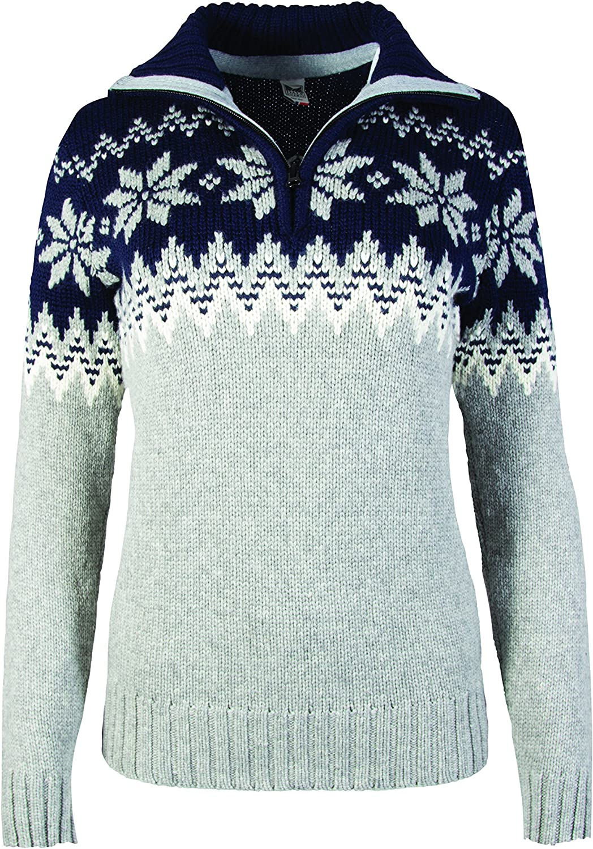 Dale of Norway Women's Myking Pullover Sweater of 100% Air-Spun Merino Wool