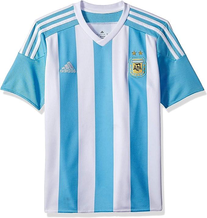 Amazon.com : adidas Argentina Home Youth Jersey- 2015/16 : Sports ...