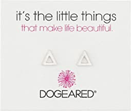 Dogeared It's The Little Things Open Triangle Earrings