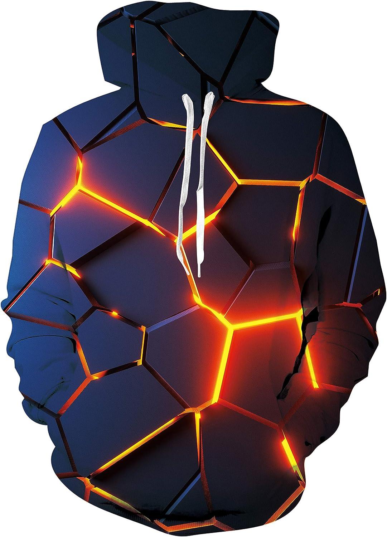 Unisex Cool 3D Novelty Print Fleece Liner Hoodies Upgrade Qualit