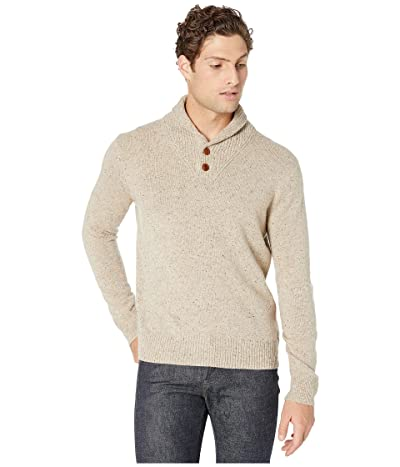 J.Crew Merino Nylon Donegal Shawl Pullover (Natural Donegal) Men